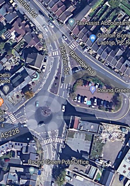 Hitchin road roundabout Luton