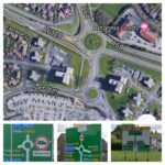 Seacroft Avenue Double Roundabout Leeds